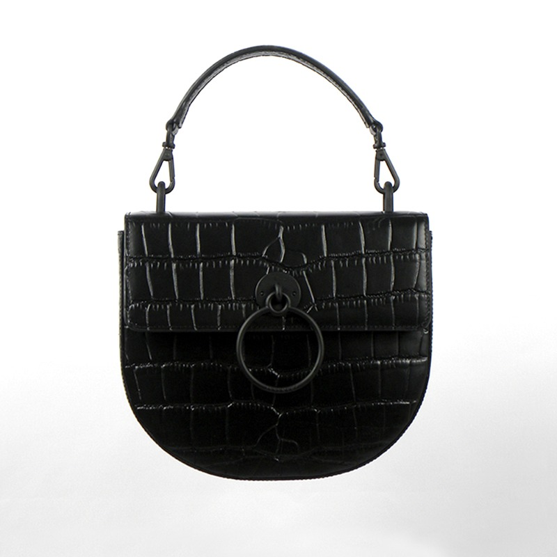 LUNA CROCO MATTE (Black)